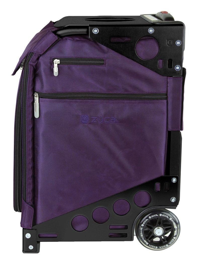 Zuca Purple Bag, Black Frame, 5 Standard Pouches, TSA w/ Purple Travel Cover by ZUCA (Image #2)