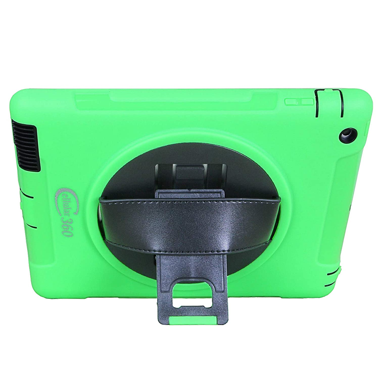 Apple iPad Air 2, Combinaci/ón de Correa de Hombro-Negro y Verde Cellular360 Apple iPad Air 2 Caso a Prueba de Choque con Kickstand Giratorio de 360 Grados y una manija