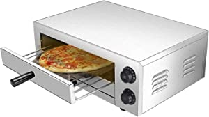 Pizza Ovens Countertop Electric Home Commercial Pizza and Snack Oven Stainless Steel for Pizza Bread Pies Bruschetta Appetizers Quesadillas and Pastries (16-Inch)