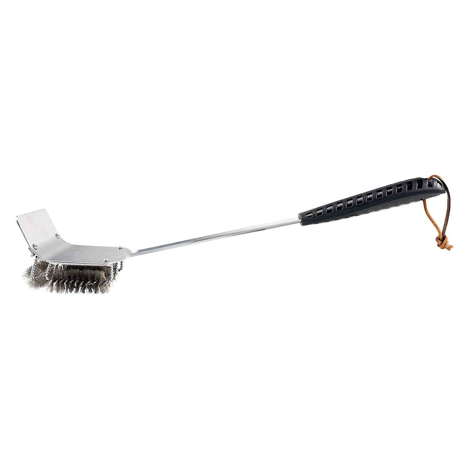 BBQ Dragon Brush n Rake Grill Brush Cleaner Accessory – Coal Rake Tools and Grill Scraper, Cleaning Stainless Steel Cast Iron Barbecues, Weber, Metal Bristles