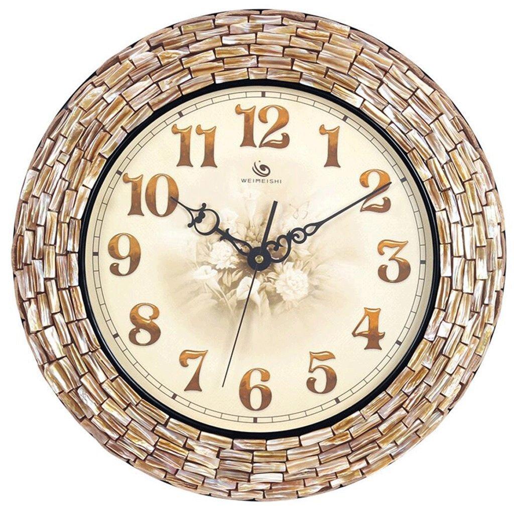 TXXM® 手作りクリエイティブウォールクロッククロックリビングルームラージ地中海ファッションクォーツ時計 B07F1T8WKB