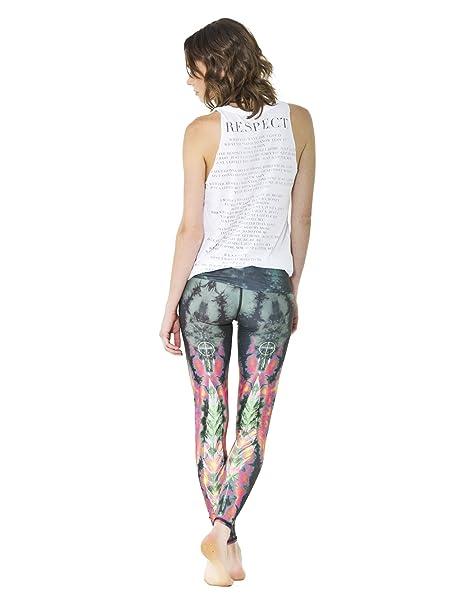 teeki Verde Pluma de Águila Caliente Pantalones Yoga ...