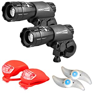 HeroBeam Bike Lights Double Set