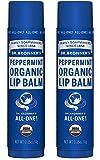 Dr. Bronner's Organic Lip Balm - Peppermint - 0.15 oz - 2 pk