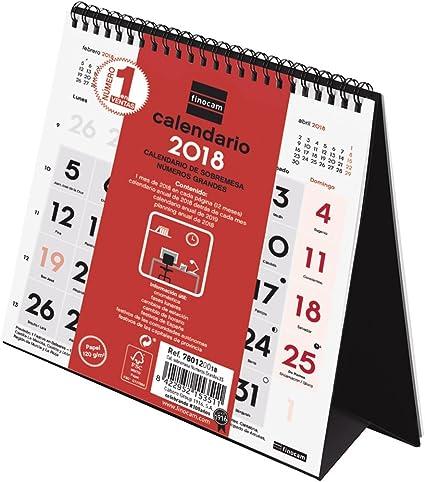 Finocam Neutro - Calendario de sobremesa números grandes 2018 ...