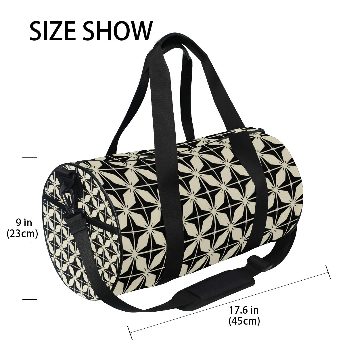 Lattice Silent Ceramic PictureWaterproof Non-Slip Wearable Crossbody Bag fitness bag Shoulder Bag