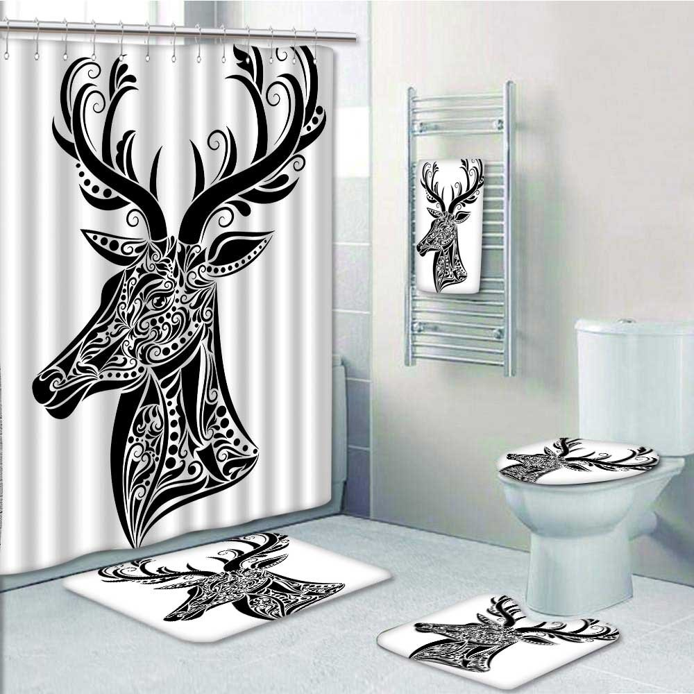 Designer Bath Polyester 5-Piece Bathroom Set, In The Shape Of A ...