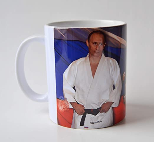 Amazon Com Vladimir Putin Martial Arts Ceramic Coffee Mug If A Fight Is Inevitable You Have To Throw The First Punch Kitchen Dining