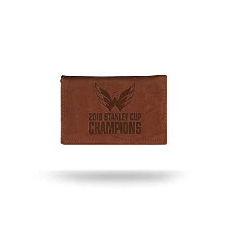 141a5774 Rico Industries NHL Washington Capitals 2018 Stanley Cup Champions Embossed  Leather Trifold Wallet with Man Made Interior