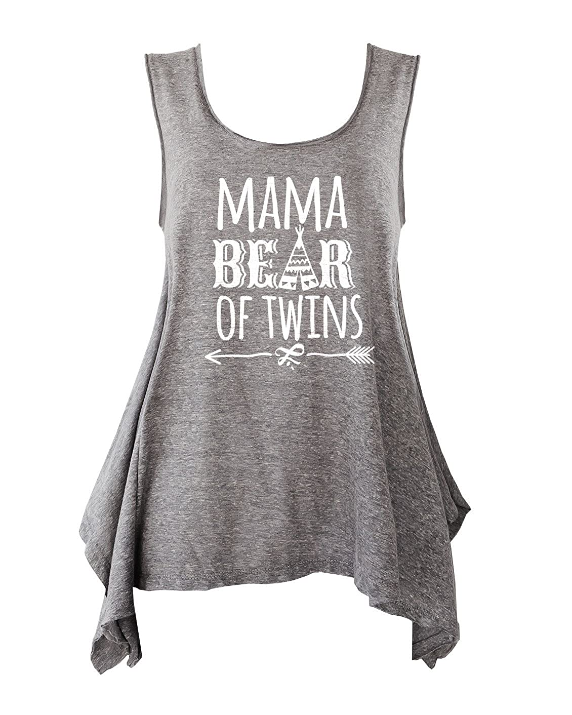 TeeMixed Women Plus Size Flowy Flare Tank Tops Mama Bear of Twins at Amazon  Women s Clothing store  11dd9a9f16d8