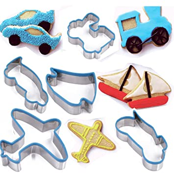 tamume transportation cookie cutter including plane coupe car