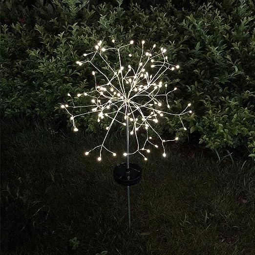 VijTIAN 120 LED Diente de león Luz Solar Flor Arreglo Lámpara Blanco Cálido Cinturón Control Remoto para Boda al aire libre, Decoración de Jardín, Césped Decoración, Jardín Decoración: Amazon.es: Iluminación