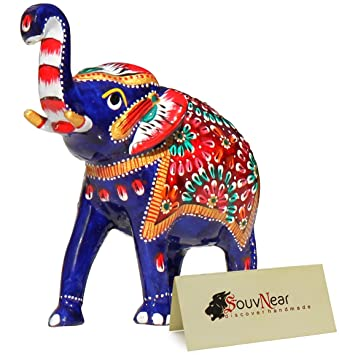 Amazon souvnear baby elephant decor blue decoration for souvnear baby elephant decor blue decoration for living room bedroom kids room garden negle Choice Image
