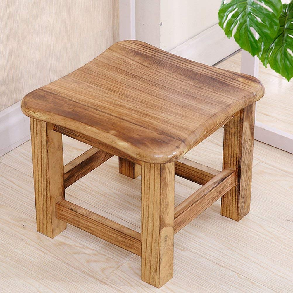 C 2-GTRHGTYH shoes bench vintage creative small stool simple home solid wood stool - small stool (color   D)