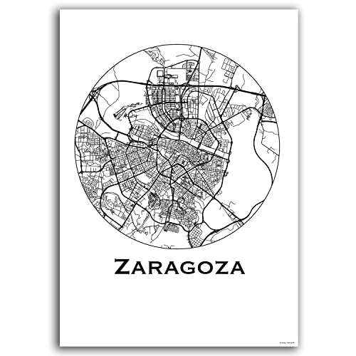 Zaragoza Spain Map on