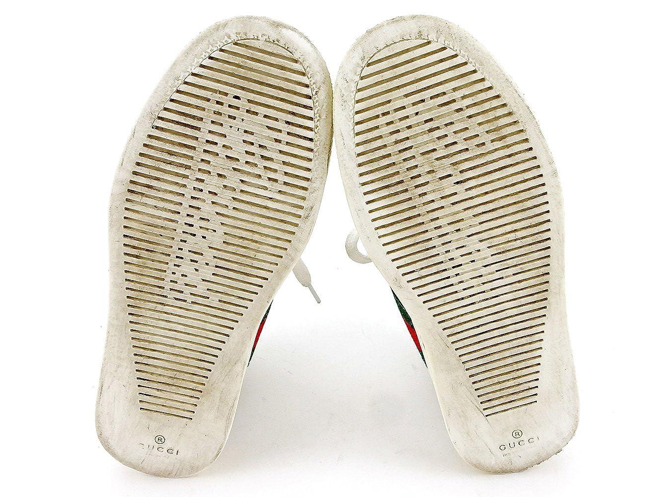 a80f7c02648b Amazon | グッチ GUCCI スニーカー シューズ 靴 ガールズ ボーイズ 可 ♯30 ハイカット 271264 キッズ ウェビングライン 中古  T4036 | GUCCI(グッチ)