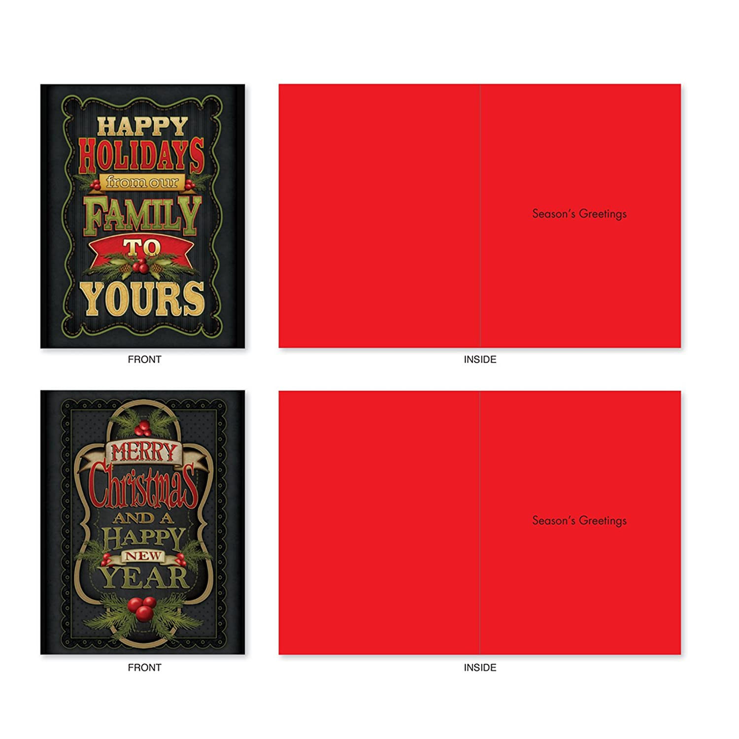 Amazon 10 Assorted Chalk Up Another Holiday Christmas Cards