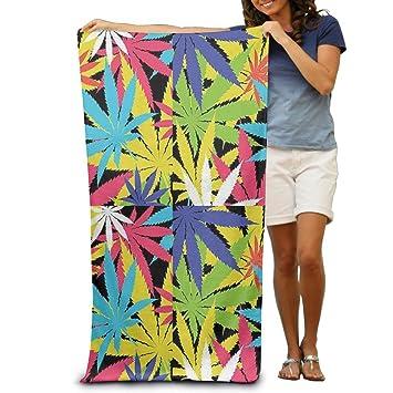 Rainbow Weed Lleaf - Toallas de baño, para playa, piscina, para adultos, suave, absorbente, 78,74 x 132,88 cm: Amazon.es: Hogar