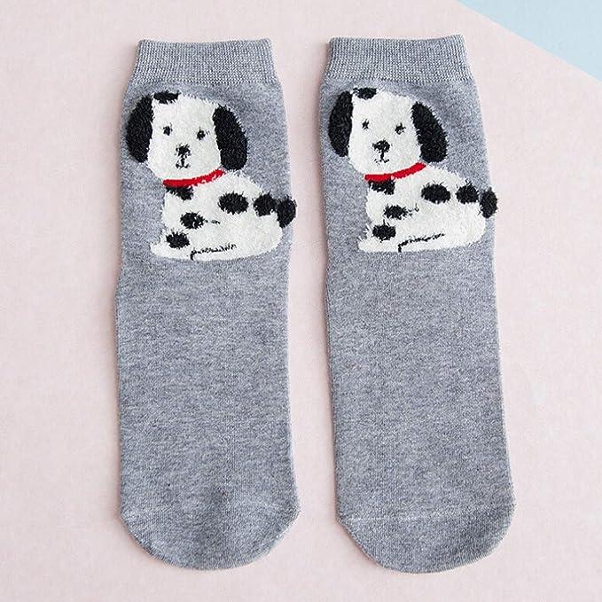 Calcetines de Algodón, ZARLLE Mujeres Suave Cómodo Calcetines De Dibujos De Animales 3D rayas mujeres gato Huellas Calcetines de algodón Para Navidad: ...