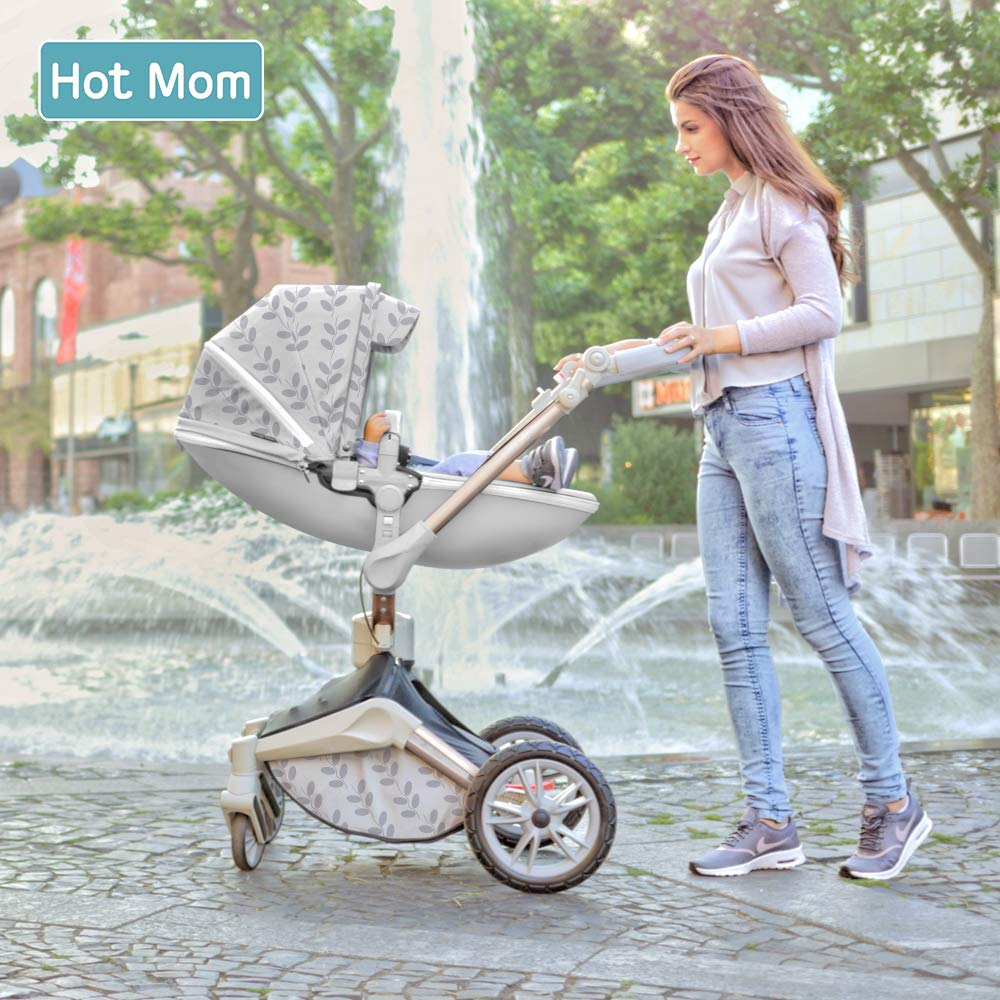 Baby Stroller 360 Rotation Function,Hot Mom Pushchair Pram,2020 New Style Coffee