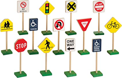 New Miniature Road Traffic Light Street Light Signs Model Kid Game Play ACCS
