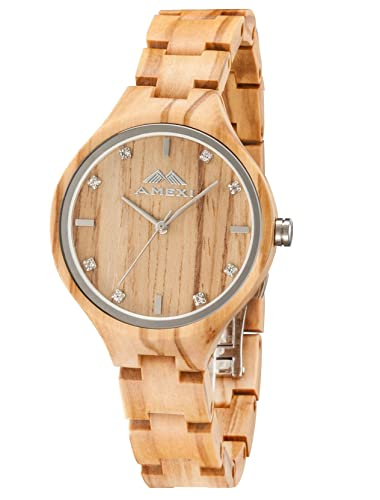 box wooden for brown mens casual leather watch watches strap cucol gift handmade products with groomsmen cowhide