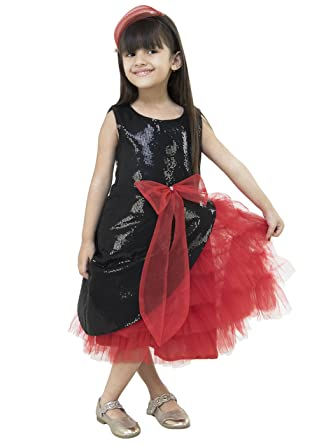Samsara Couture Baby Girls Birthday Party wear Frock Dress Red and ...