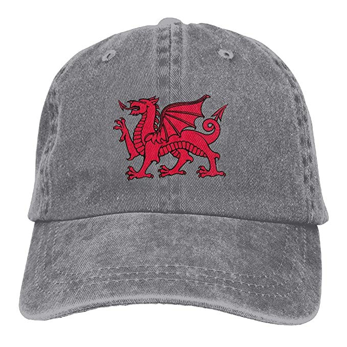 b52a70f74 Welsh Dragon Denim Dad Cap Baseball Hat Adjustable Sun Cap at Amazon ...