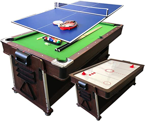 grafica ma.ro srl Mesa de Billar 7ft Carambola y Hockey de Mesa y Ping Pong y Plan de Cobertura Mod. Mattew: Amazon.es: Juguetes y juegos