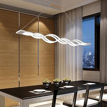 LED Colgante de Luz Moderno Lámpara de Mesa de Comedor Acrílico ...