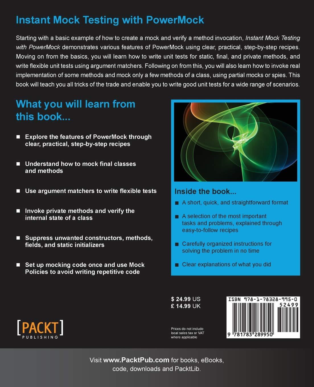 Instant Mock Testing with PowerMock: Amazon in: Deep Shah: Books
