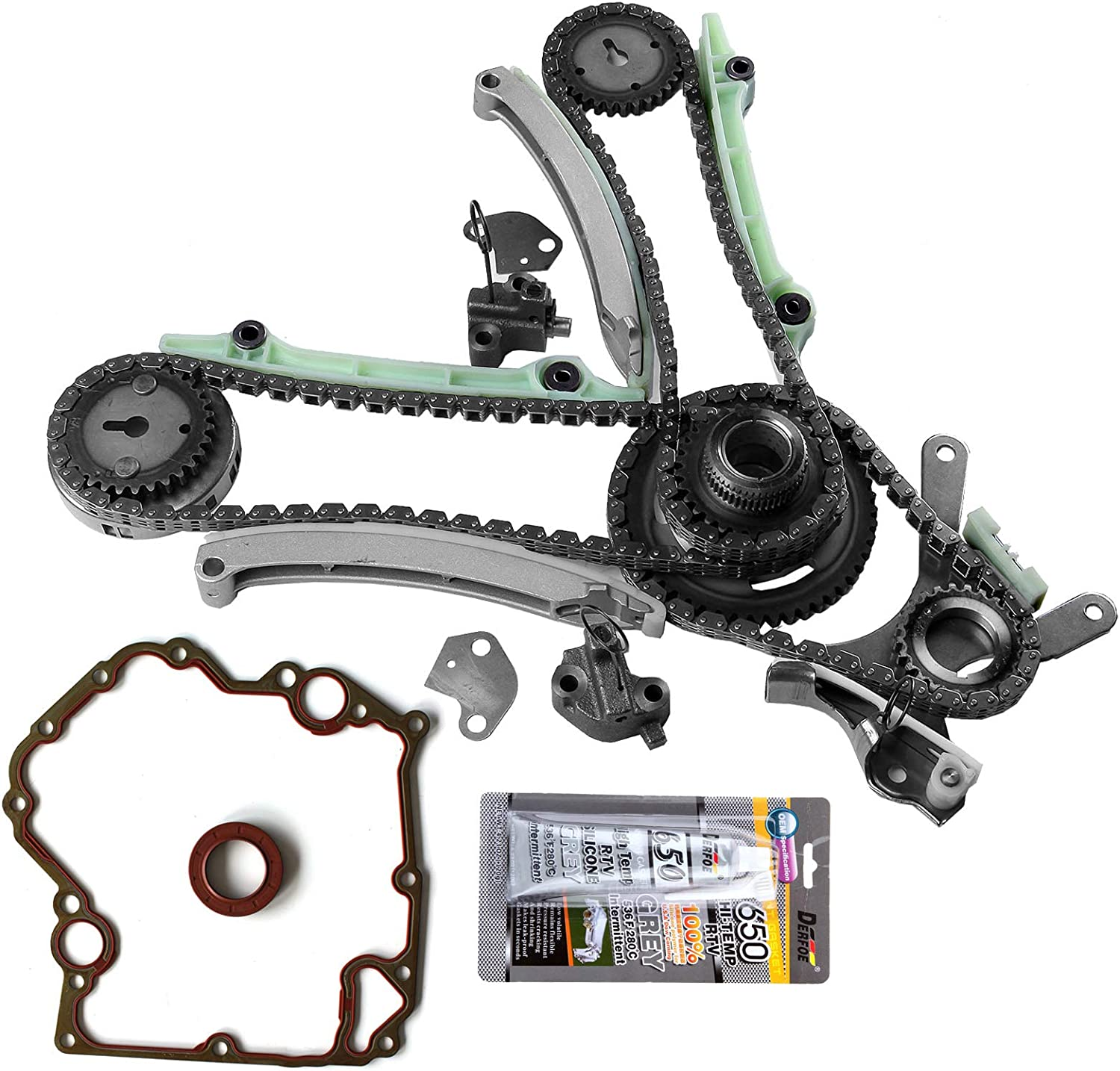 SCITOO Timing Chain Water Pump Cover Gasket Kit fits for 2002 2007 9-0393SD 90393SD 76112 TCS46000 TCS46022 for Dodge Dakota Durango Ram 1500 4.7L