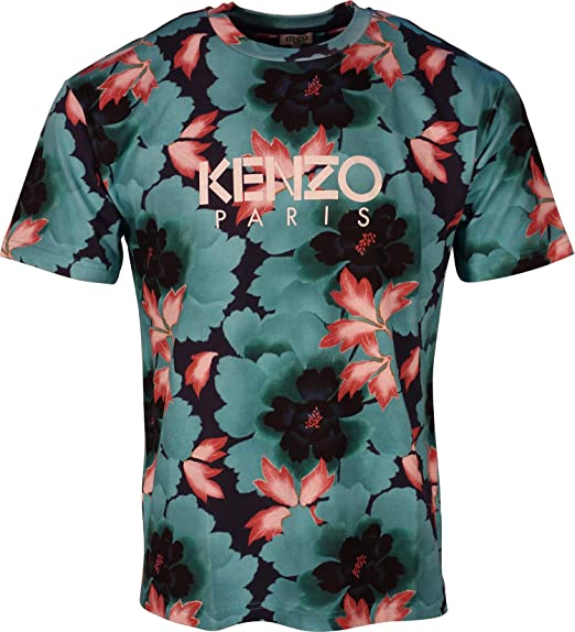 f1bddce3a Kenzo T-Shirt Floral Logo 5TS043 4SJ: Amazon.co.uk: Clothing