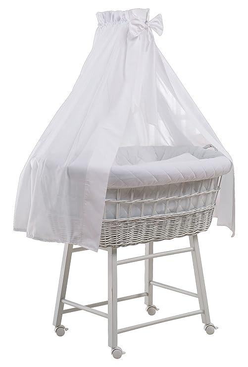 Schardt 09 812 00 02 1//722 Capazo para beb/é con ropa de cama color blanco beige