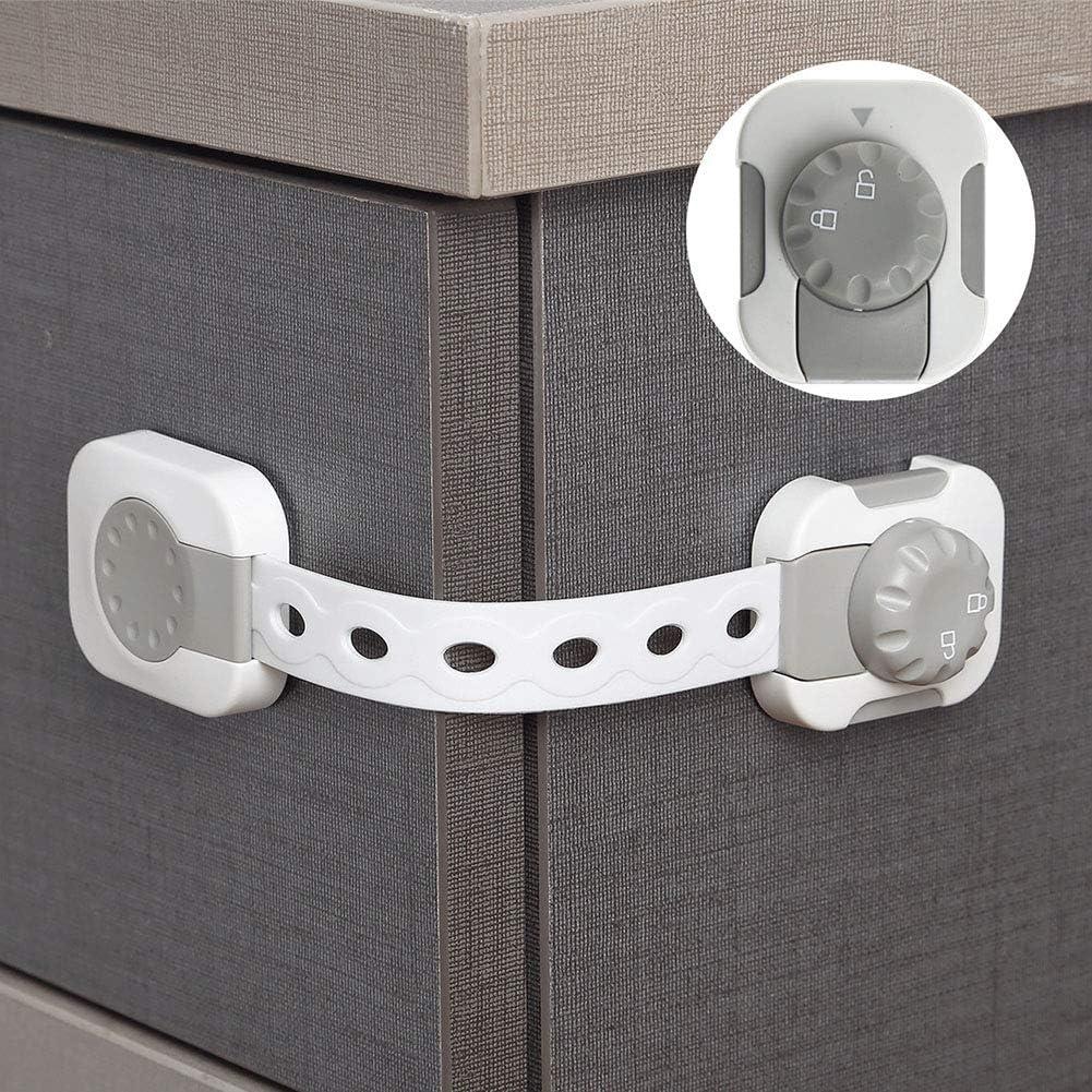 si/ège de Toilette Protection pour b/éb/é sans Sangle de per/çage tiroir Verrous de s/écurit/é pour Enfant Four Gelentea pour Placard Porte de r/éfrig/érateur