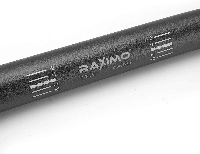 Noir Aluminium Guidon Street 22mm Raximo avec ABE