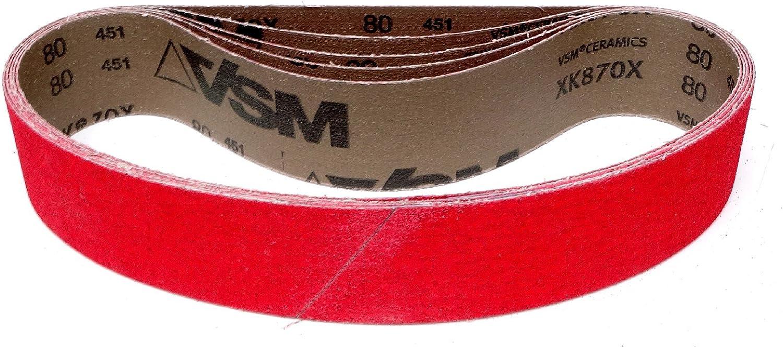 XK870F au choix VSM XK870X XK870F Lot de 5 bandes abrasives 50 x 686 mm Grain XK870X