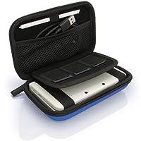 igadgitz Blau EVA Hart Tasche Schutzhülle fur Neu Nintendo 3DS Etui Case Cover mit Tragegurt (NICHT FÜR 3DS XL)