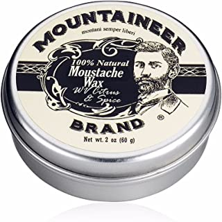 product image for Mustache Wax by Mountaineer Brand (2oz) | All-Natural Beeswax and Plant-Based Oils for Moustache | No Petroleum Chemicals | WV Citrus & Spice