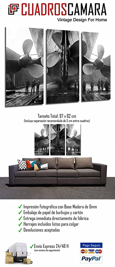 Amazon.com: Cuadros Camara Multi Wood Printings Art Print ...