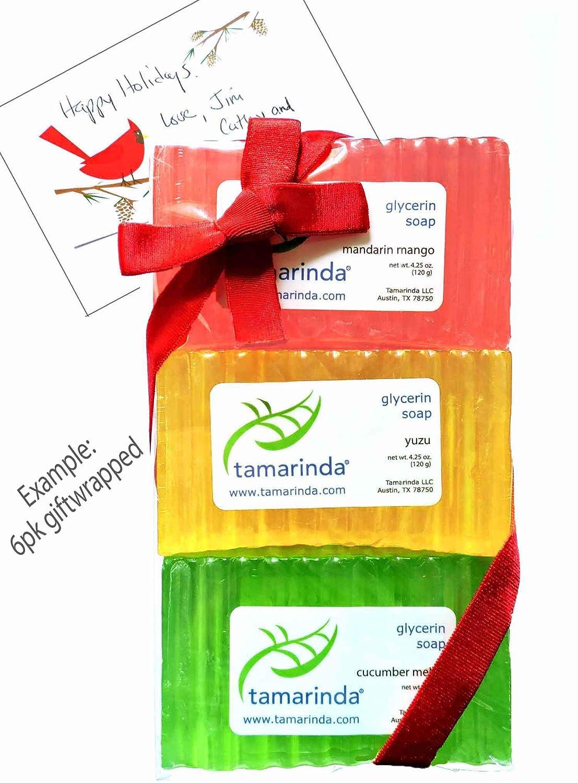 tamarinda Glycerin Soap – 6 Bar Fresh Collection
