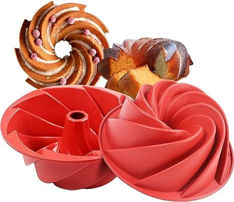 Gugelhupf 2 Bundt Cake Tins-magazine non-Stick cannelée anneau moule en acier au carbone,