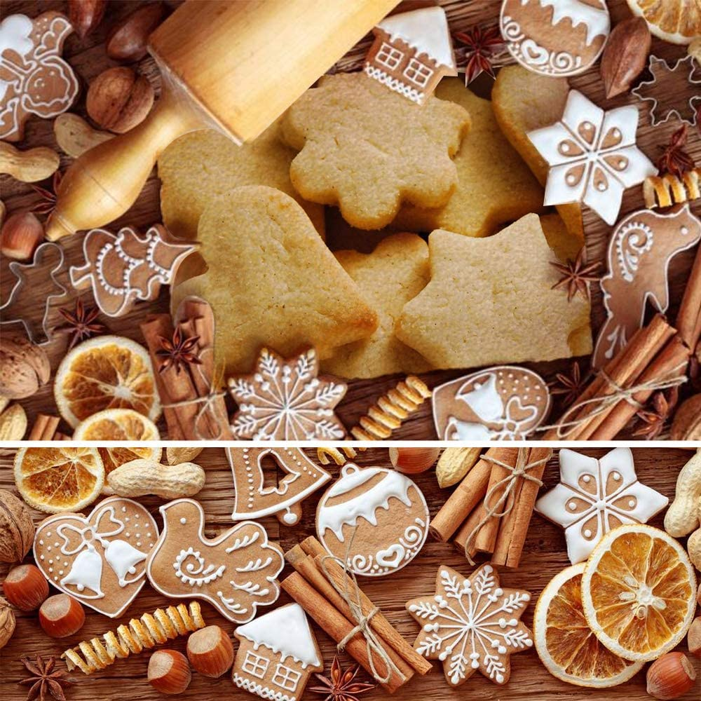 Con caja de almacenamiento 20pcs Acero Inoxidable Galletas Cortador para Pastel,Cookie Fondant Formas Navide/ña Variadas Fiesta Navidad Accesorios de Cocina SHUIBIAN Moldes de Galletas