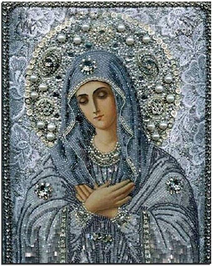 5d Round Diamond Painting Diy Painting Embroidery Cross Stitch Religious For People House Decoration Diamond Mosaic Wall Art Amazon Com