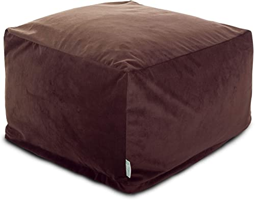 Majestic Home Goods Faux Suede Ottoman