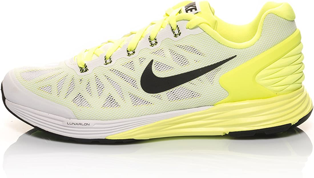 Nike Zapatillas Lunarglide 6 (GS) Blanco/Lima EU 35.5: Amazon.es ...