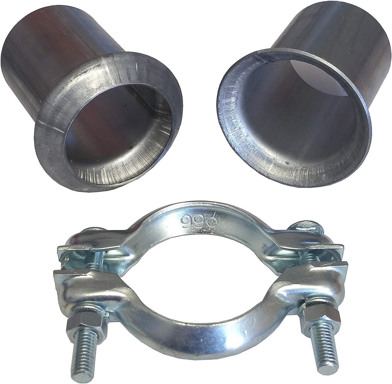 Universal Reparatur Flanschrohr 60mm Auspuff Flansch mit Schelle PSA