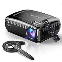 """Video Beamer,FUJSU 3300LM Full HD 5.8""""LCD Video Projektoren 1080P HDMI USB VGA SD Card AV für Office Powerpoint Präsentationen Heimkino Unterstützt mit Powerpoint Fernbedienung"""