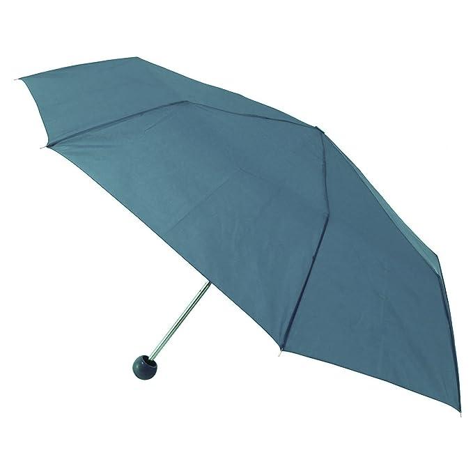 Paraguas mini plegable con mango en forma de bola (Ver descripción/Verde azulado)