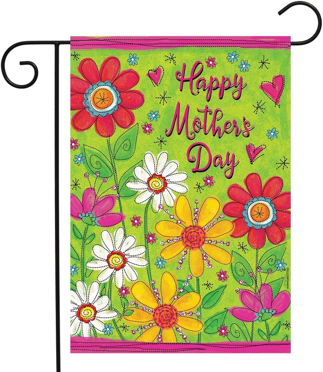 """Briarwood Lane Mother's Day Floral Garden Flag Holiday Daisies 12.5"""" x 18"""""""